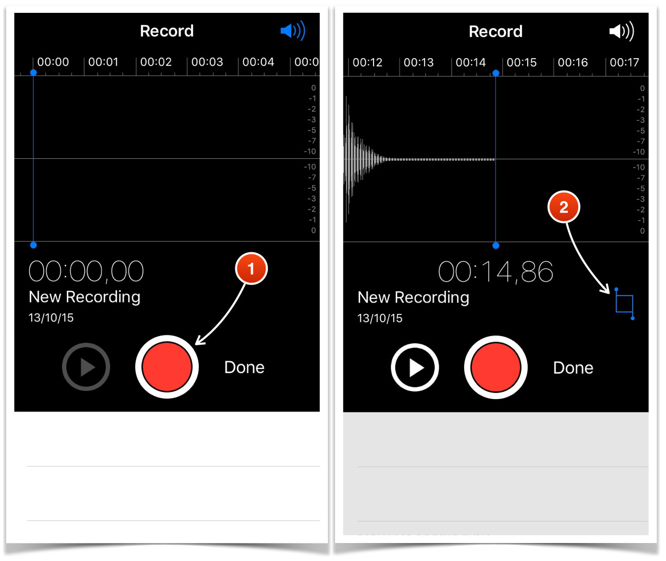 Voice Recording On Iphone And Transferring Audio Files To The Speech Recorder Diagram Screen Will Change Show Entire Both Sides Of It There Be Red Vertical Lines With Little Circles